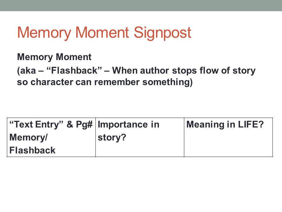 Memory Moment Signpost