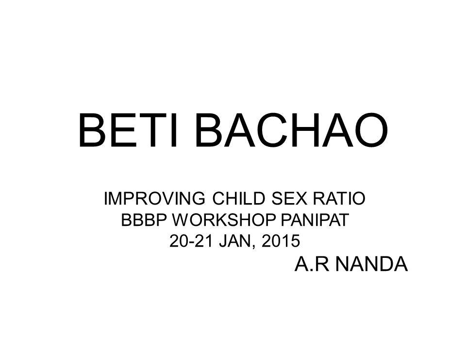 IMPROVING CHILD SEX RATIO