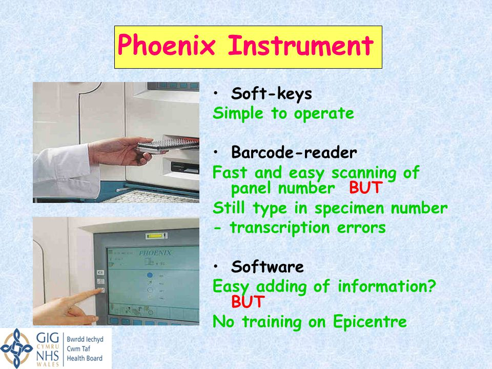 Phoenix Instrument Soft-keys Simple to operate Barcode-reader