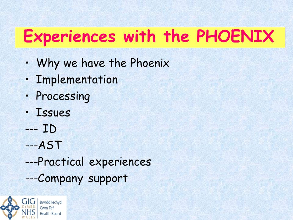 Experiences with the PHOENIX