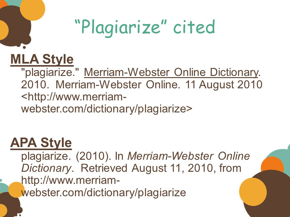 Plagiarize cited