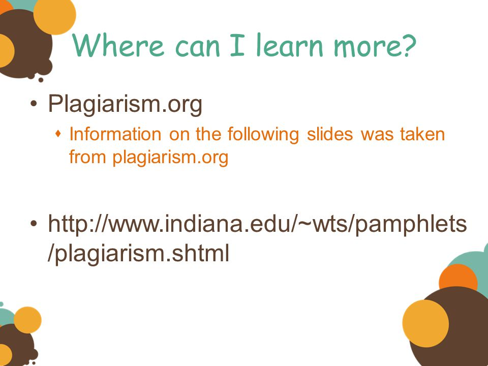Where can I learn more Plagiarism.org