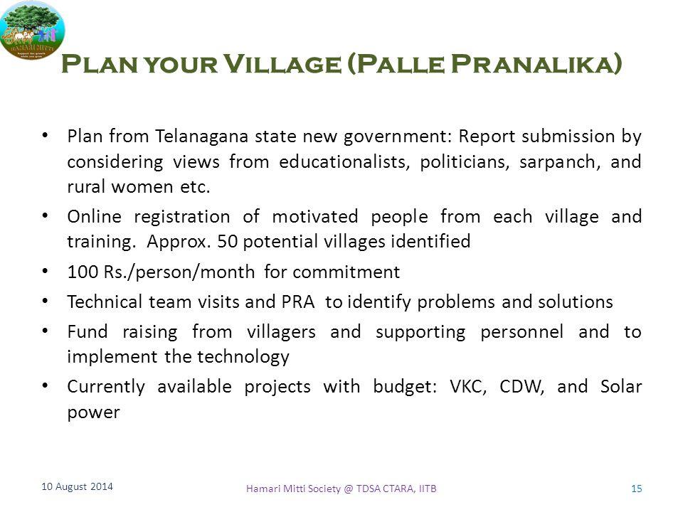Plan your Village (Palle Pranalika)