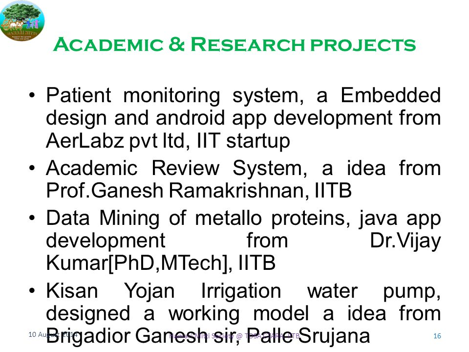 Academic & Research projects