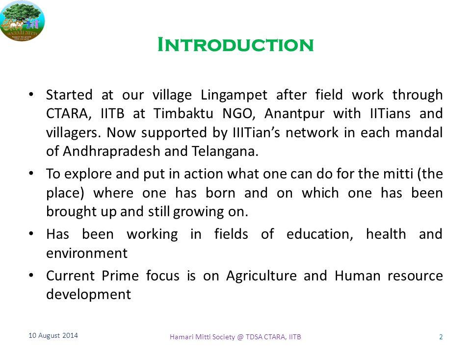 Hamari Mitti Society @ TDSA CTARA, IITB