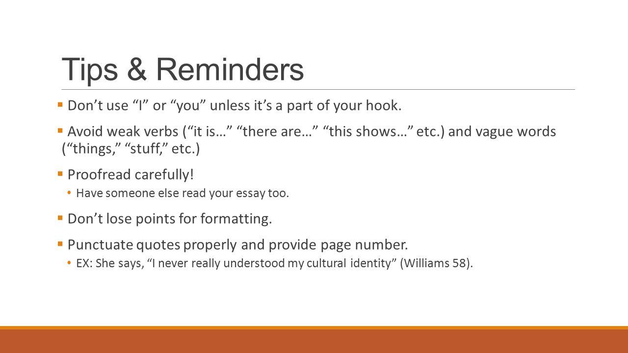 proper essay formatting