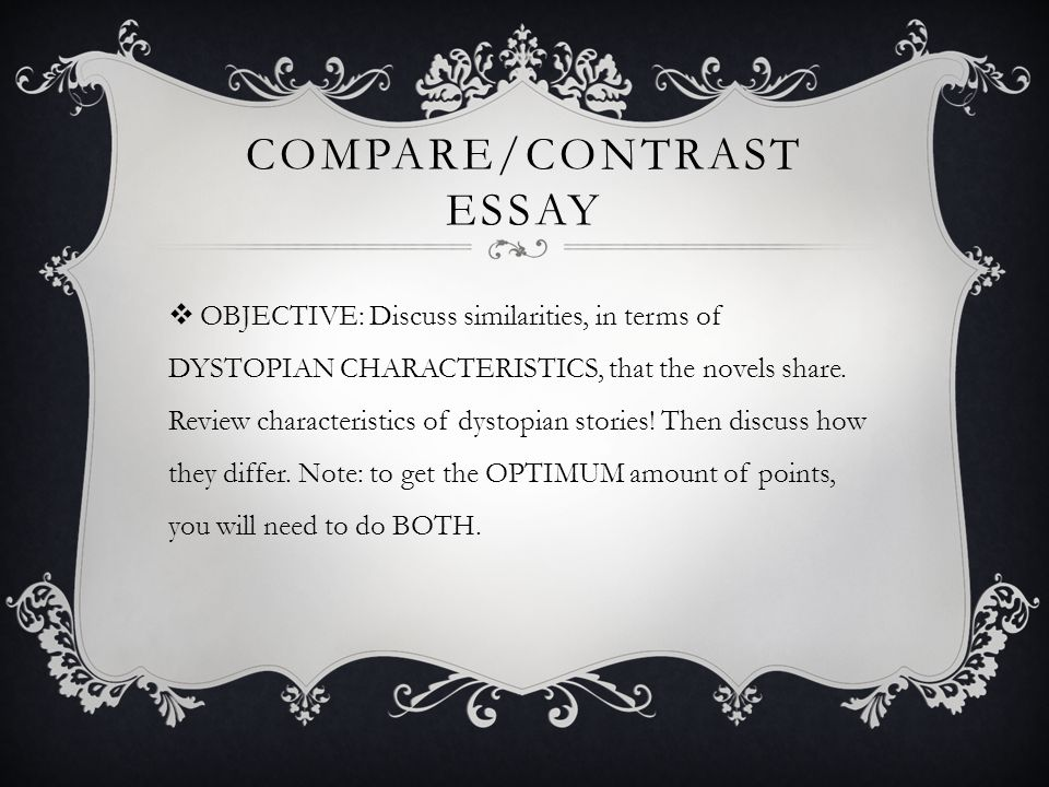 writing a compare and contrast essay powerpoint This video teaches students about how to write a compare and contrast essay.