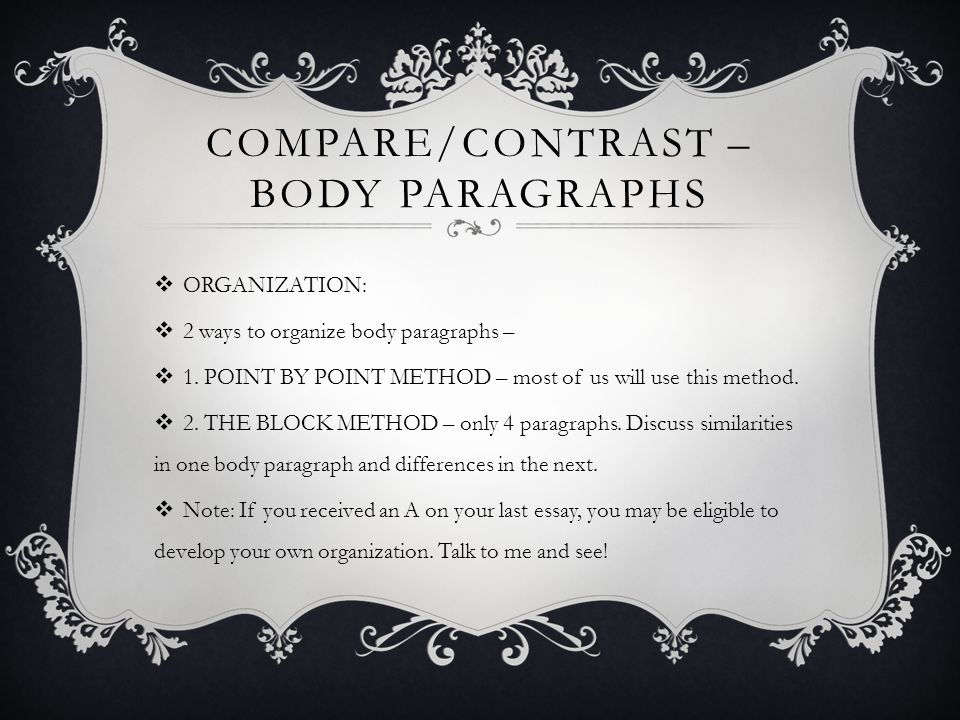 compare and contrast essay ppt video online  7 compare contrast
