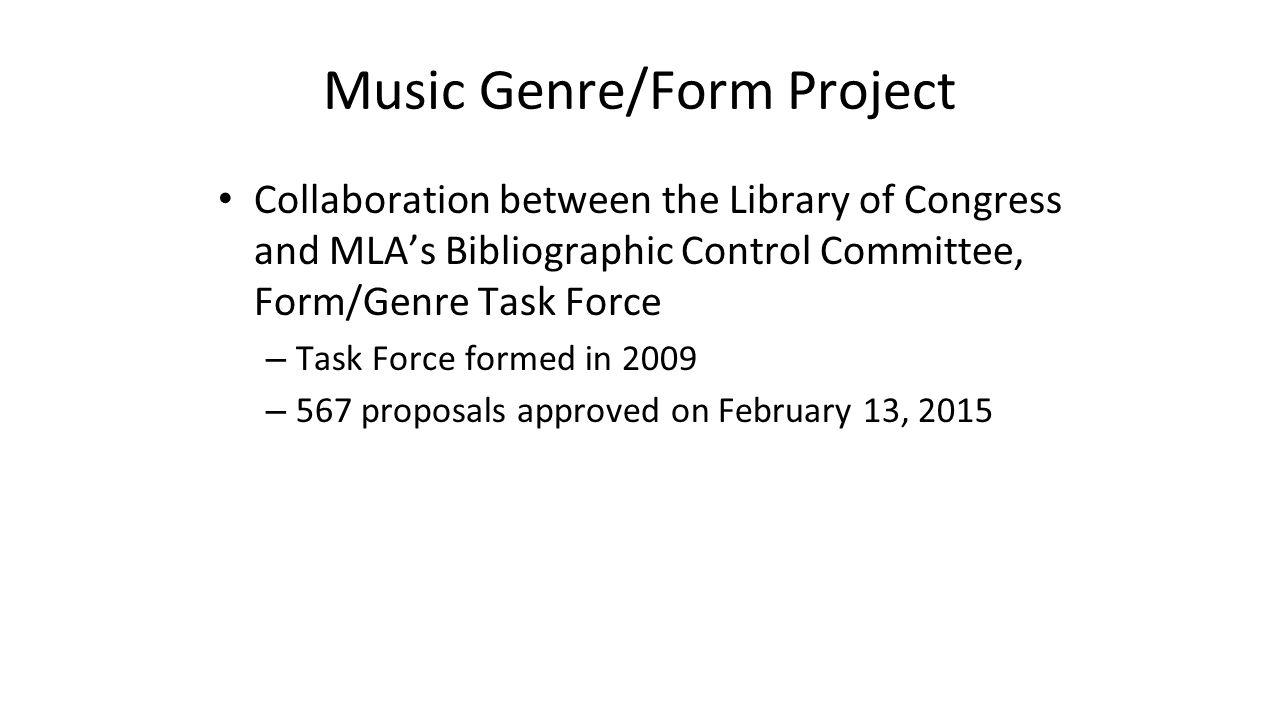 Music Genre/Form Project