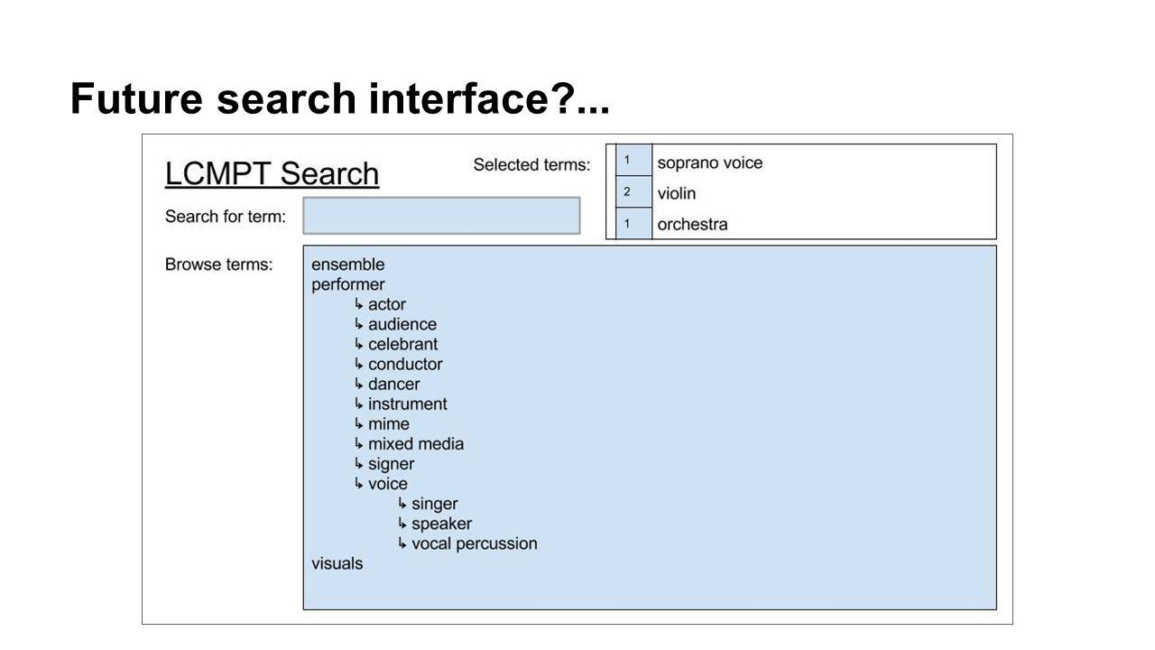 Future search interface ...