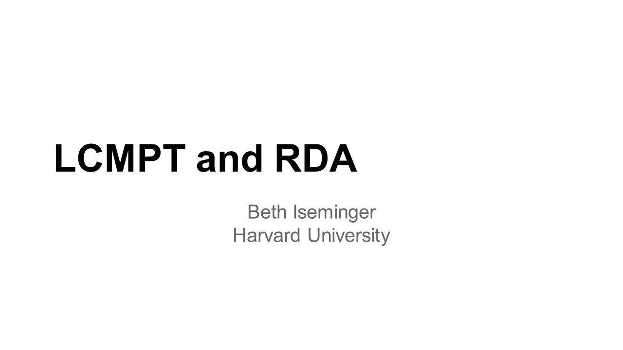 Beth Iseminger Harvard University