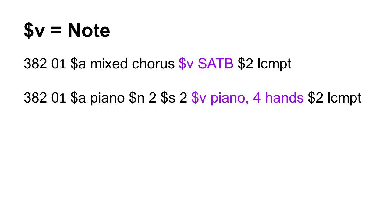 $v = Note 382 01 $a mixed chorus $v SATB $2 lcmpt