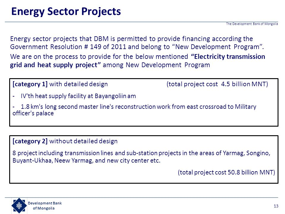 Energy Sector Projects