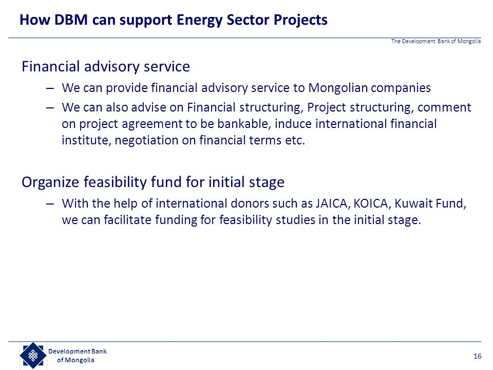 How DBM can support Energy Sector Projects