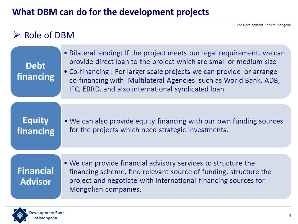 What DBM can do for the development projects