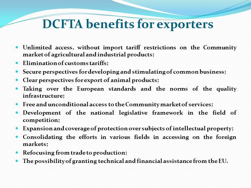 DCFTA benefits for exporters