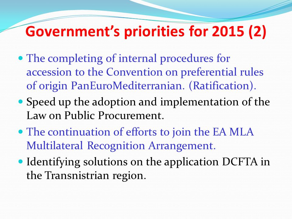 Government's priorities for 2015 (2)