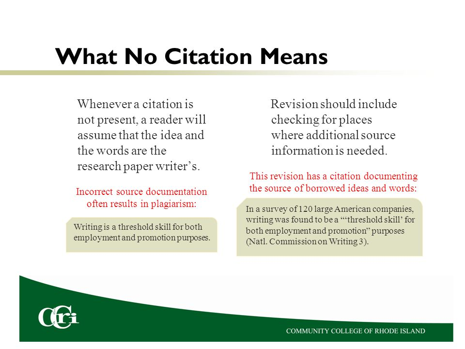 Incorrect source documentation often results in plagiarism: