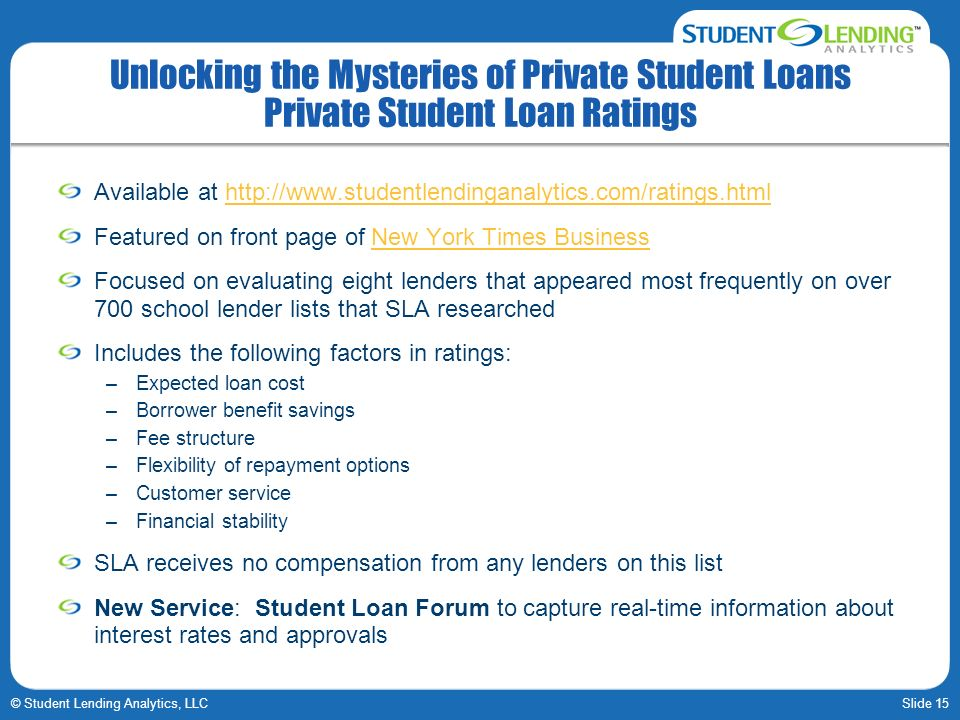 Unlocking the Mysteries of Private Student Loans Private Student Loan Ratings