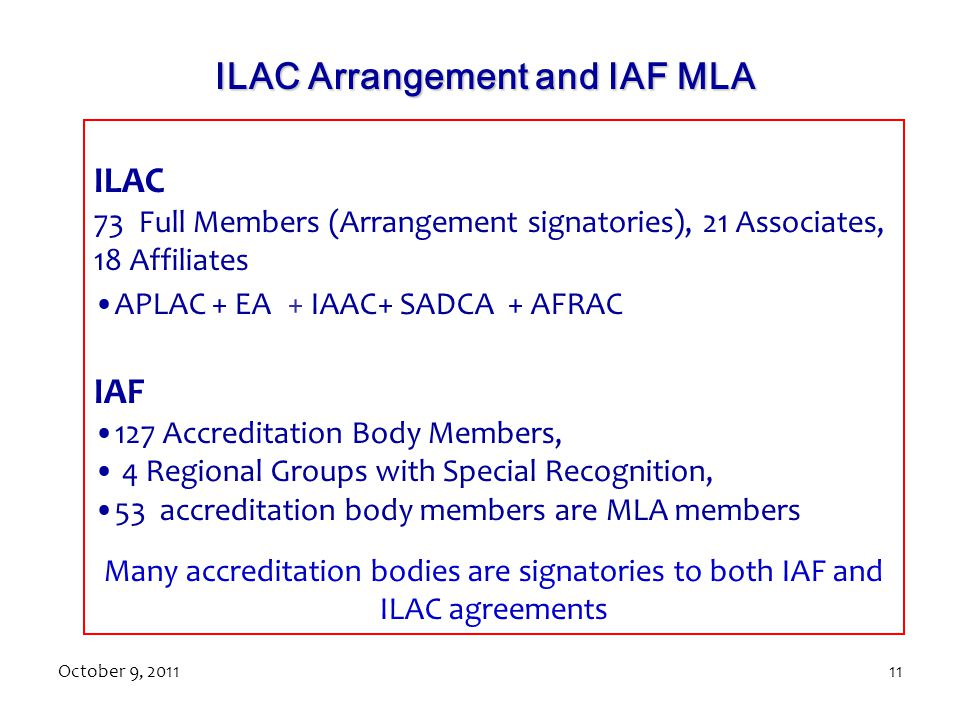 ILAC Arrangement and IAF MLA