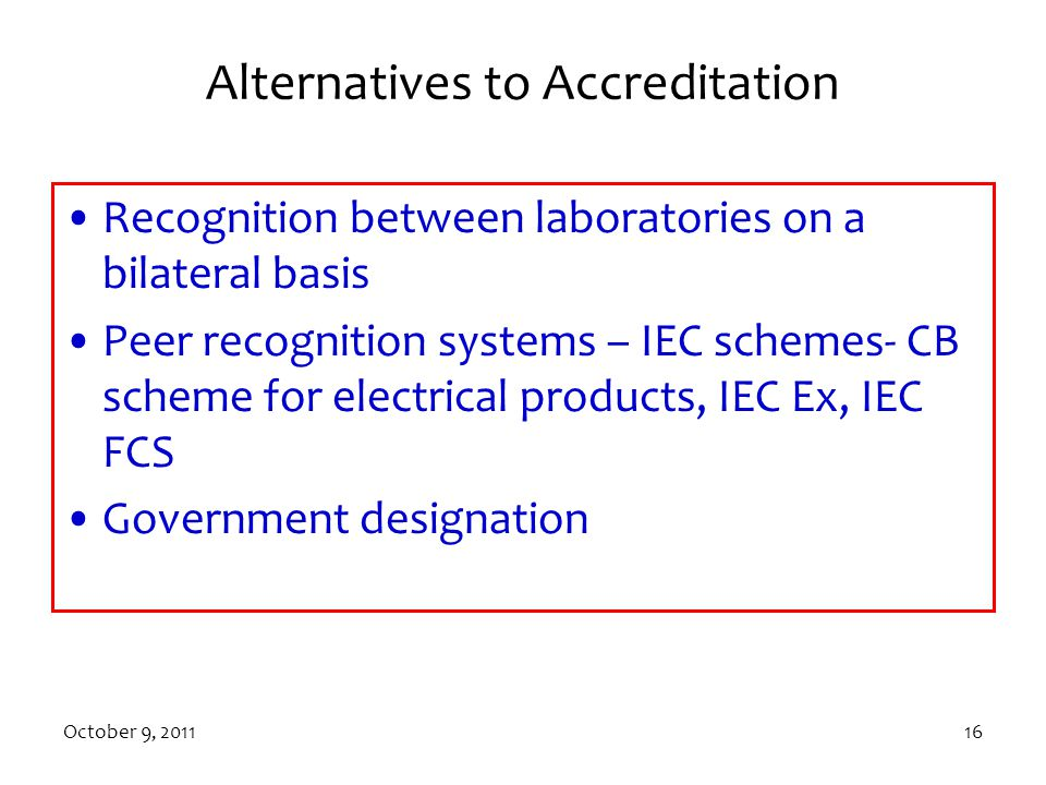 Alternatives to Accreditation
