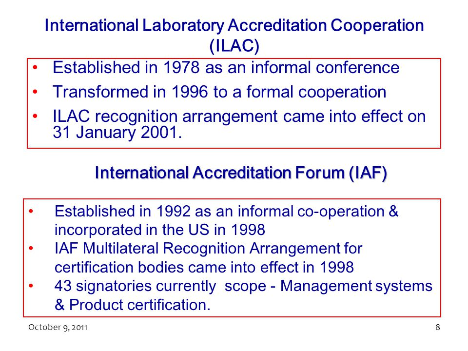 International Laboratory Accreditation Cooperation (ILAC)