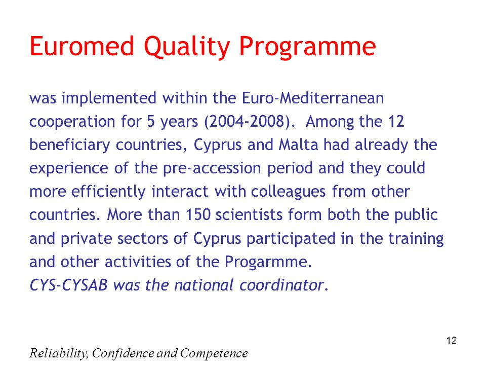 Euromed Quality Programme