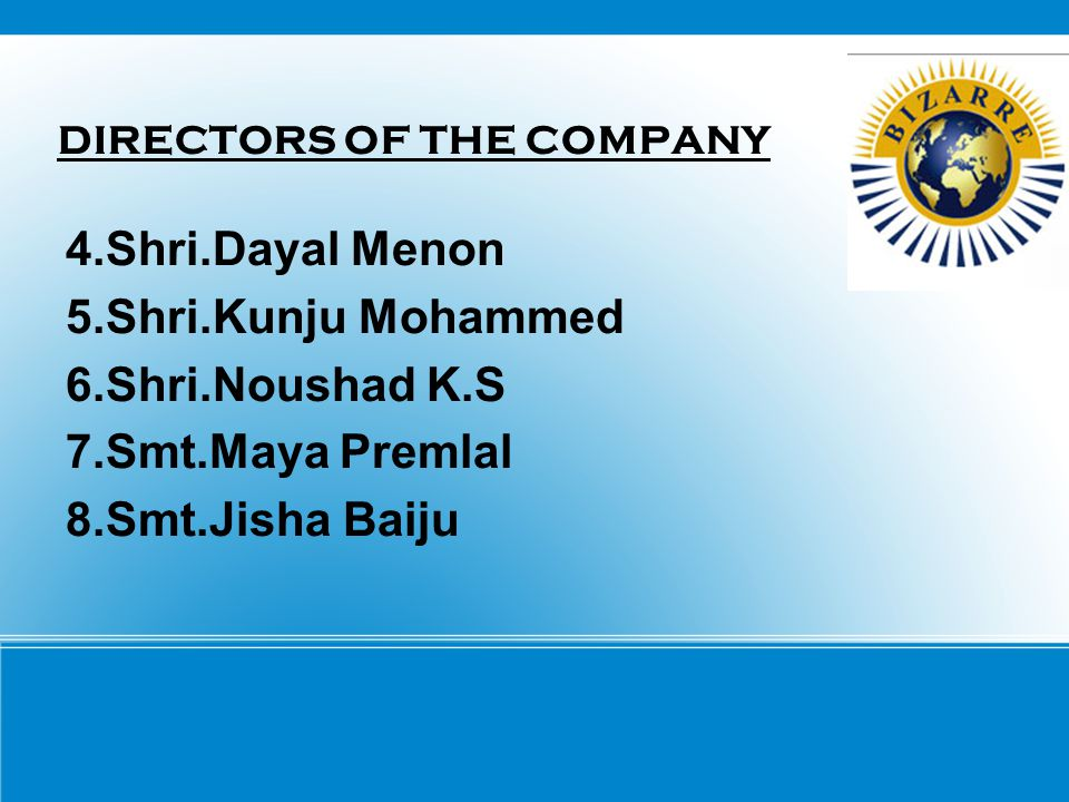 DIRECTORS OF THE COMPANY