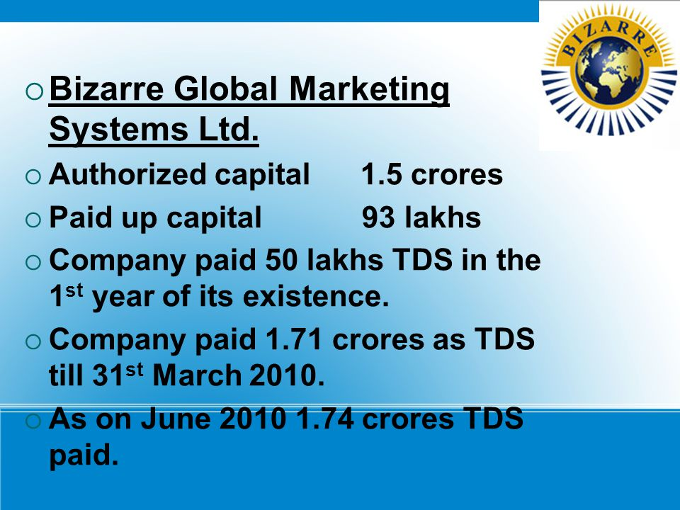 Bizarre Global Marketing Systems Ltd.