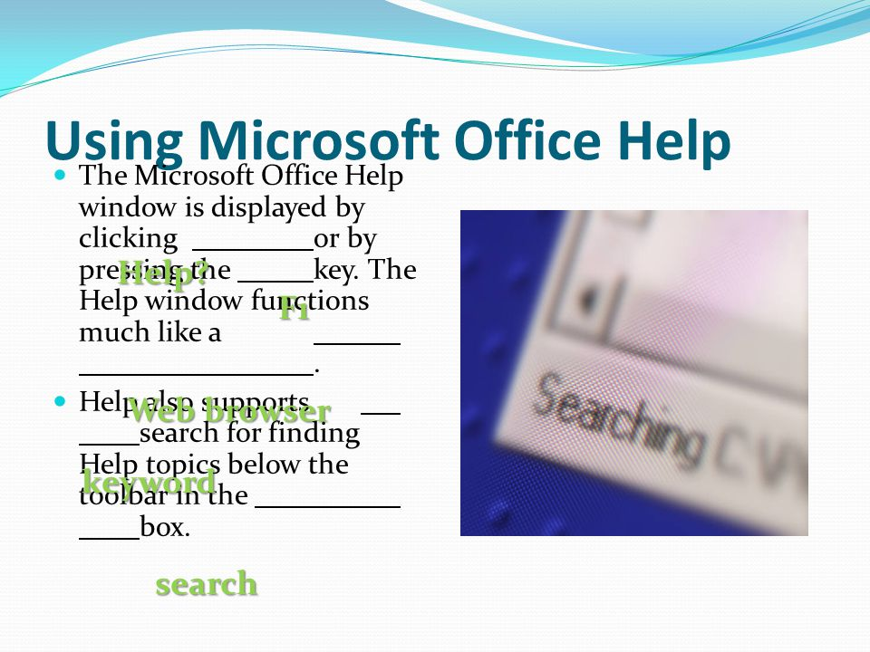 Using Microsoft Office Help