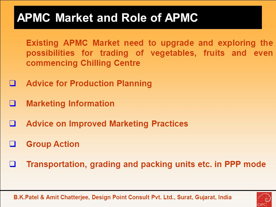 APMC Market and Role of APMC