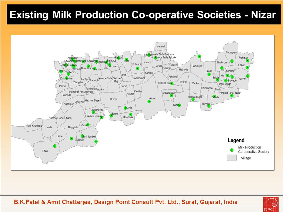 Existing Milk Production Co-operative Societies - Nizar