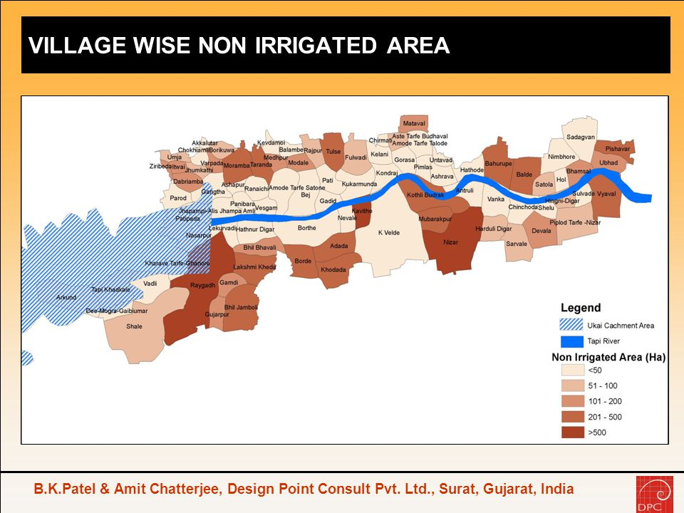 VILLAGE WISE NON IRRIGATED AREA