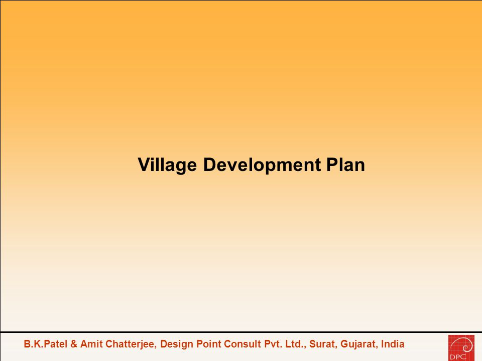 Village Development Plan