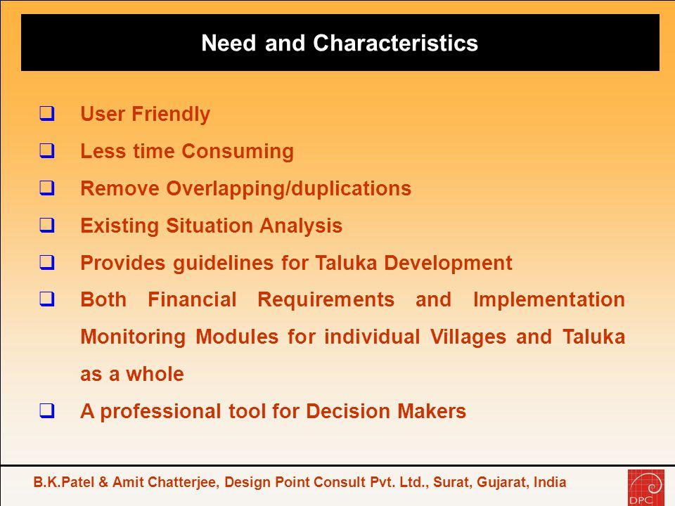 Need and Characteristics