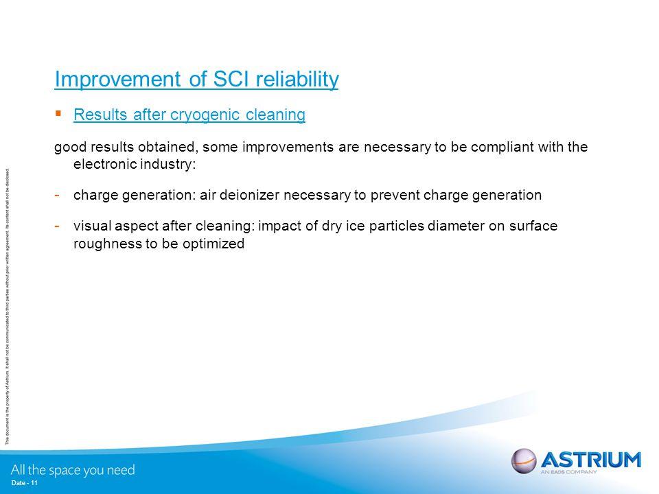 Improvement of SCI reliability