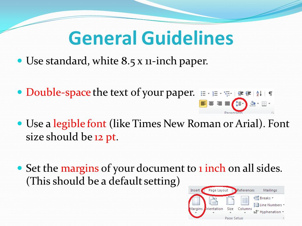 standard research paper margins In an effort to assist the author in preparing and formatting the paper margins: 5 in (top: to paper header, bottom: from copyright footer, sides) header.