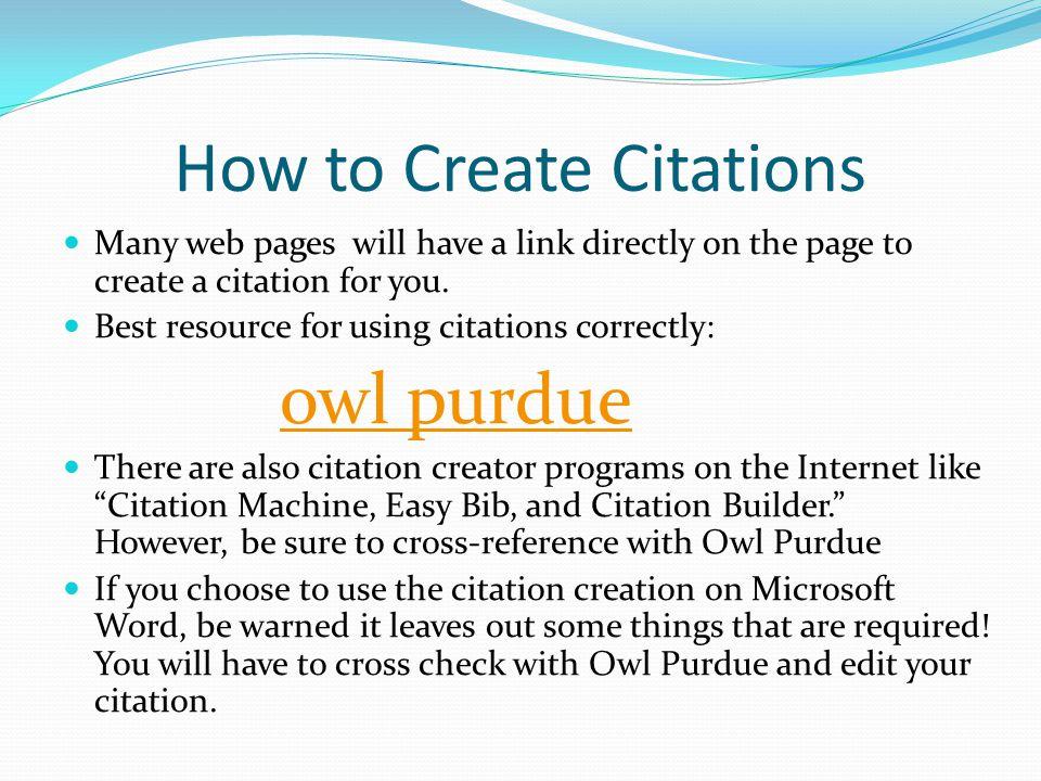 how to create a citation