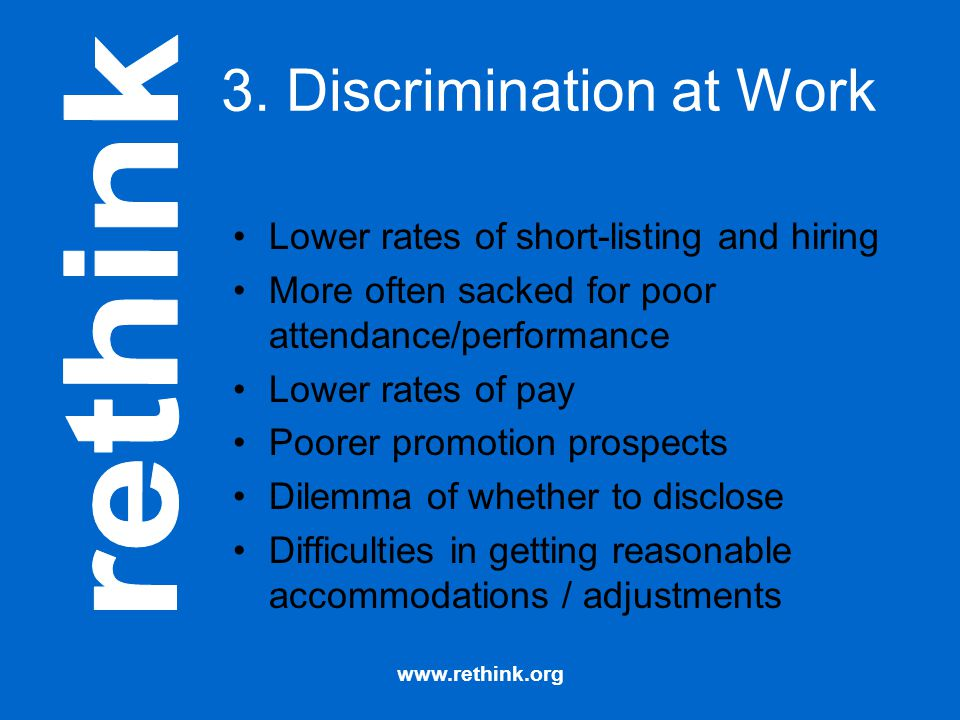 3. Discrimination at Work