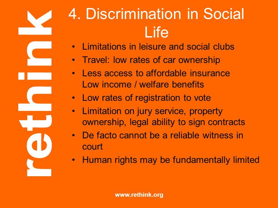 4. Discrimination in Social Life