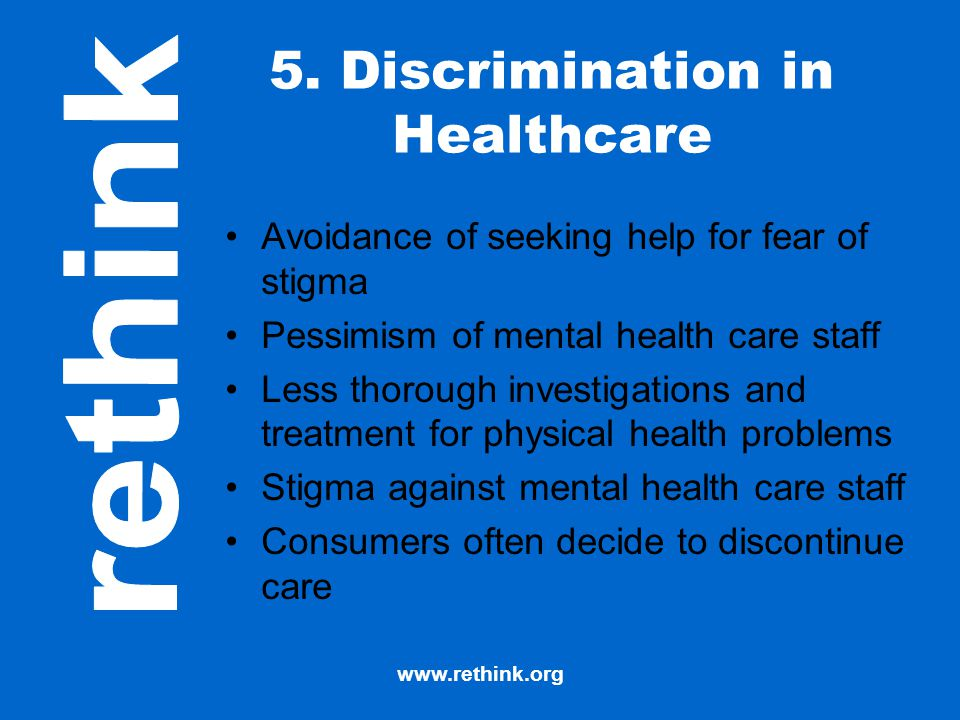 5. Discrimination in Healthcare