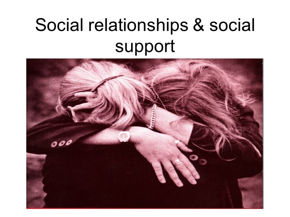 Social relationships & social support