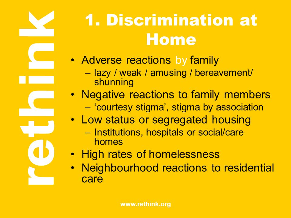 1. Discrimination at Home