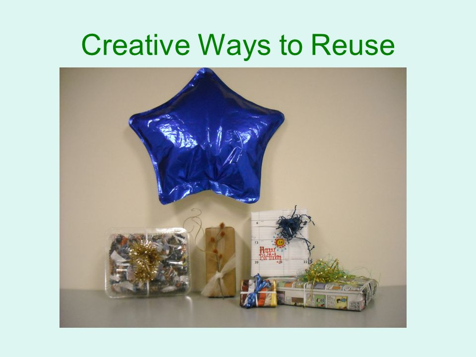 Simple reduce reuse recycle practices ppt video for Creative ways to recycle
