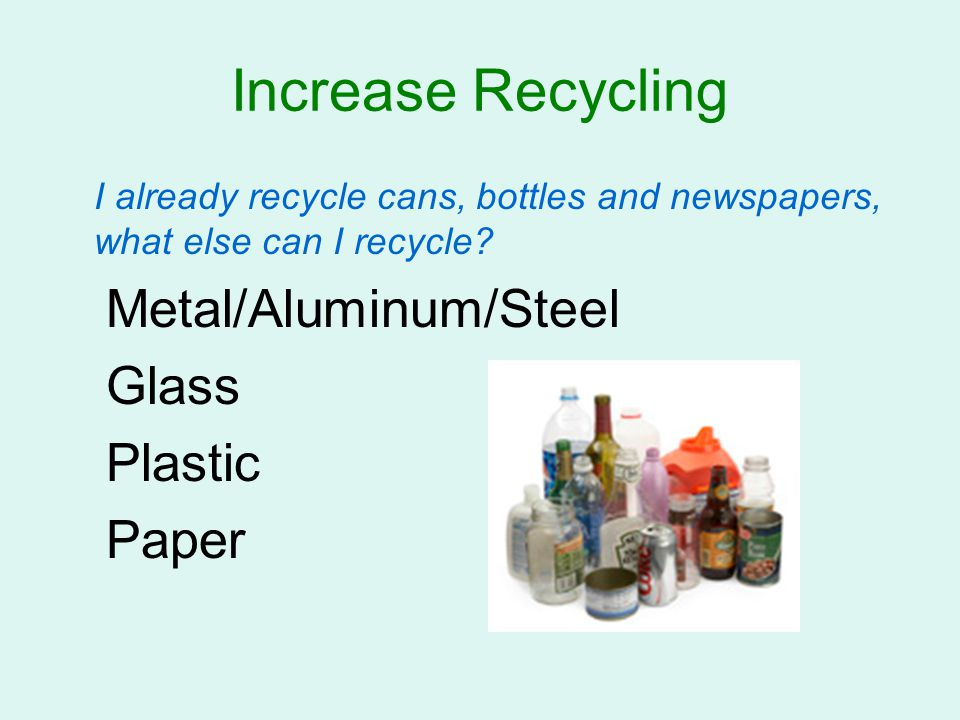 Increase Recycling Metal/Aluminum/Steel Glass Plastic Paper