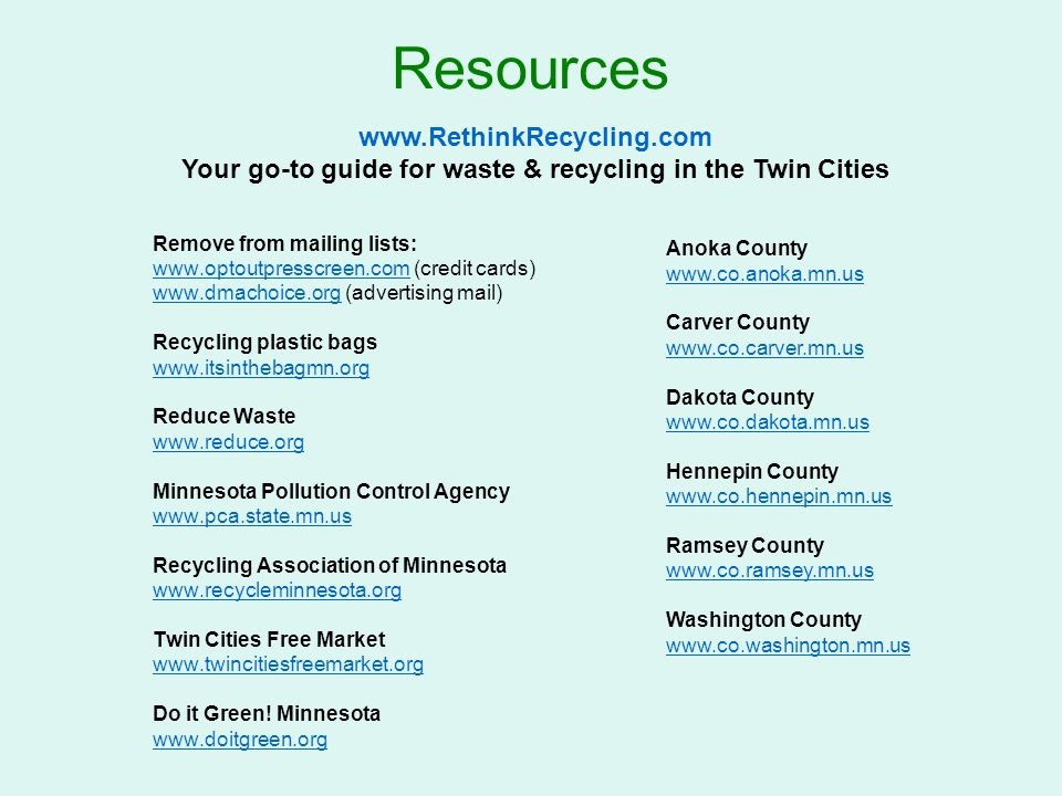 Your go-to guide for waste & recycling in the Twin Cities