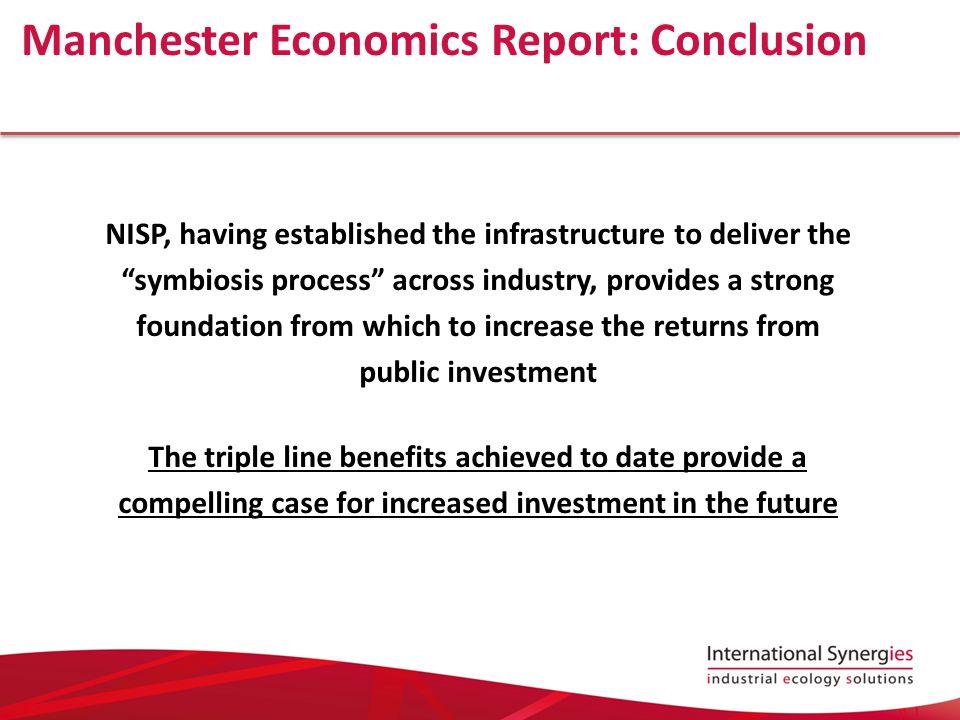 Manchester Economics Report: Conclusion