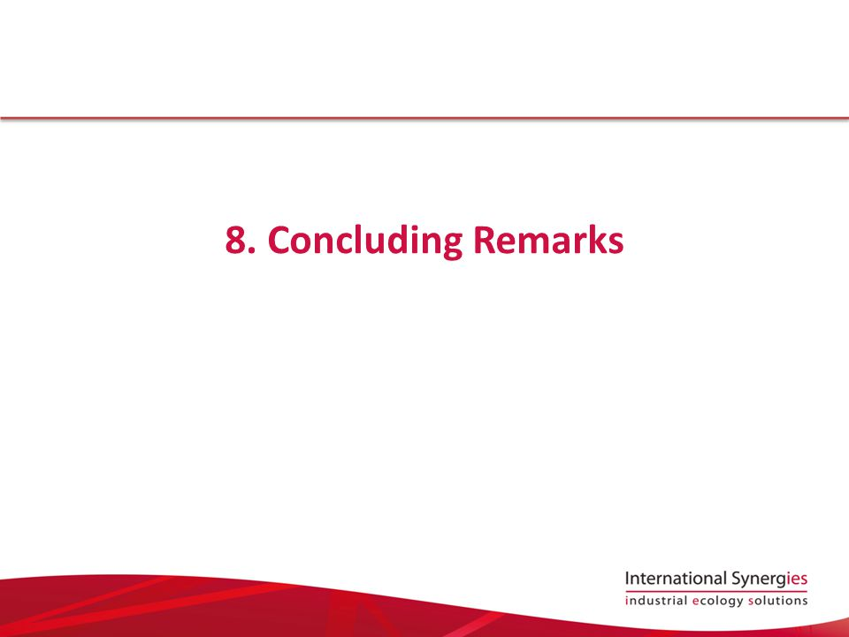 8. Concluding Remarks