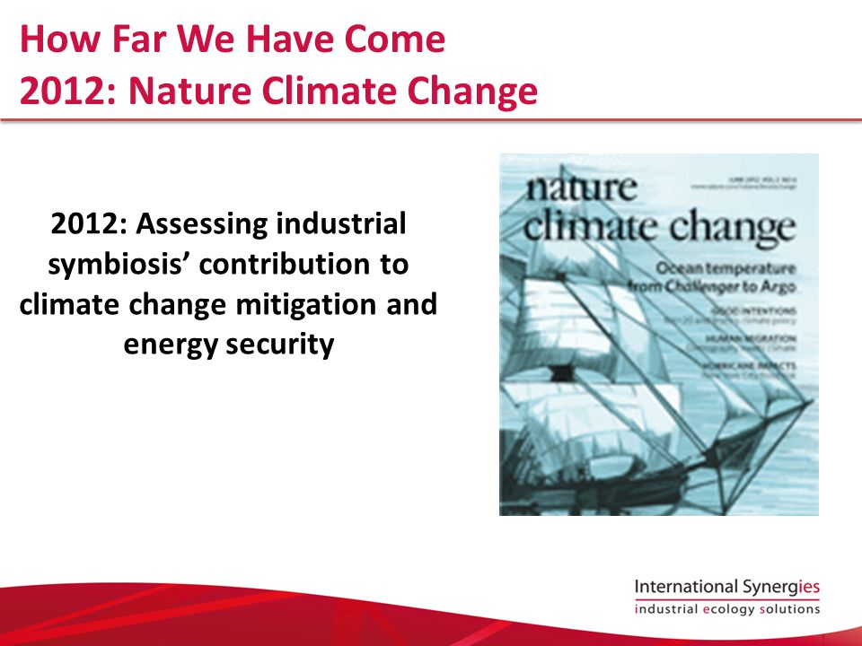 2012: Nature Climate Change