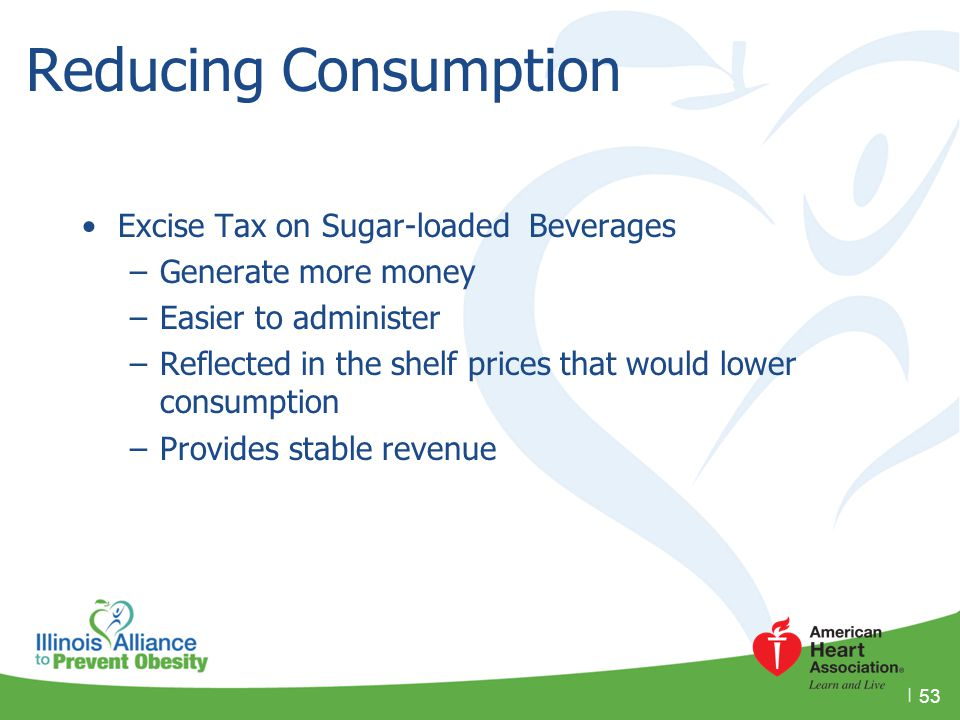 Reducing Consumption Excise Tax on Sugar-loaded Beverages